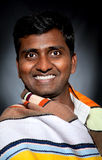 Happy Indian man smiling Royalty Free Stock Photography