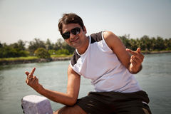 Happy Indian Man With Sunglasses Stock Photos