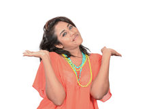 Happy indian model Stock Photography