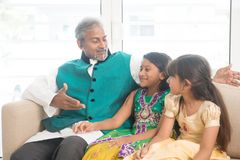 Happy Indian parent and children Stock Images