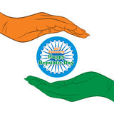 Happy indian republic day Royalty Free Stock Images