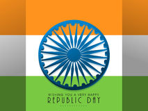 Happy Indian Republic Day background with flag. Royalty Free Stock Photo
