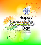 Happy Indian republic day background With Flower Royalty Free Stock Image