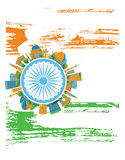 Happy Indian Republic Day Banner. Vector illustration. Stock Photo