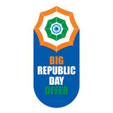 Happy indian republic day Royalty Free Stock Photo