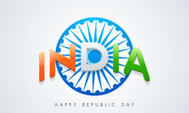 Happy Indian Republic Day celebration with Ahsoka Whee. Stock Photography