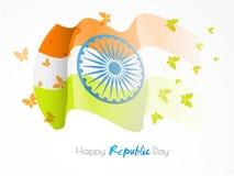 Happy Indian Republic Day celebration background. Stock Image