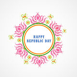 Happy Indian Republic Day celebration concept. Royalty Free Stock Photography