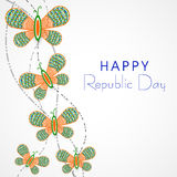 Happy Indian Republic Day celebration concept. Royalty Free Stock Photo