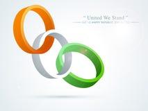 Happy Indian Republic Day celebration creative circles. Stock Photo