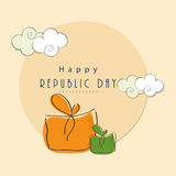 Happy Indian Republic Day celebration. Royalty Free Stock Photography