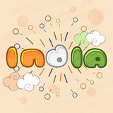 Happy Indian Republic Day celebration greeting card. Royalty Free Stock Photo