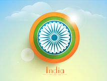 Happy Indian Republic Day celebration sticker or label. Royalty Free Stock Images