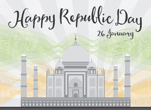 Happy Indian Republic Day celebration. Royalty Free Stock Images