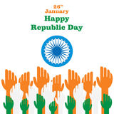 Happy indian Republic day Royalty Free Stock Photos
