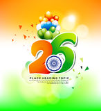 Happy Indian republic day explode background with text Royalty Free Stock Photography