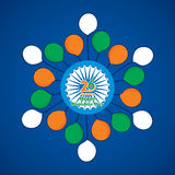Happy indian republic day Stock Images