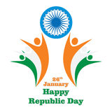 Happy indian republic day Stock Photography