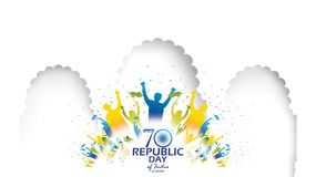 Happy Indian Republic day Vector illustration or background for 26 January celebration poster or banner background Vector. Freedom celebration royalty free illustration