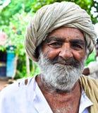 Happy Indian villager. A Happy Indian villager from Gujarat Stock Photography