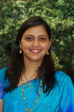 Happy Indian woman in sari Stock Image