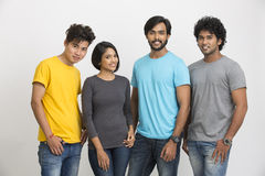 Happy Indian young group of friends Stock Photography