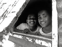 Happy Indigenous Fijian teens Royalty Free Stock Images