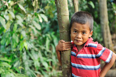 Happy Indonesian village Boy Royalty Free Stock Images