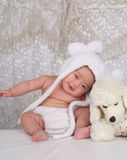 Happy Infant and Toy Royalty Free Stock Photography