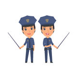 Happy and Intelligent Character Constabulary making presentation Stock Photography