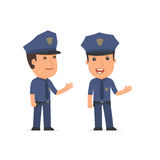 Happy and Intelligent Character Officer making presentation usin Royalty Free Stock Photography