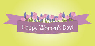 Happy International Women`s Day card Stock Photo