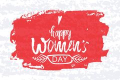 Happy International Women s Day on March 8th design background. Lettering design. March 8 greeting card. Background Stock Images