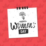 Happy International Women s Day on March 8th design background. Lettering design. March 8 greeting card. Background Royalty Free Stock Images