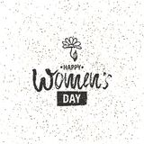 Happy International Women s Day on March 8th design background. Lettering design. March 8 greeting card. Background template for I. Nternational Womens Day vector illustration