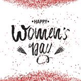 Happy International Women s Day on March 8th design background. Lettering design. March 8 greeting card. Background template for I. Nternational Womens Day royalty free illustration