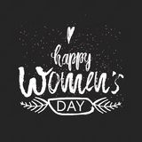 Happy International Women s Day on March 8th design background. Lettering design. March 8 greeting card. Background template for I Royalty Free Stock Images