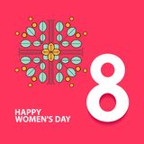 Happy International Women`s Day. 8 number 3d illustration. Happy Mother`s Day. Eps10 illustration with place for your text. royalty free illustration