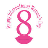 Happy international womens day eight lips Royalty Free Stock Images