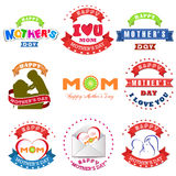 Happy International Womens Day set for celebration greeting card Royalty Free Stock Images