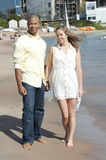 Happy Interracial Couple royalty free stock images