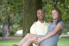 Happy Interracial Couple Stock Photography