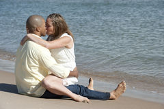 Happy Interracial Couple Royalty Free Stock Photo