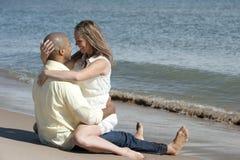 Happy Interracial Couple Stock Photo