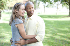 Happy Interracial Couple Stock Images