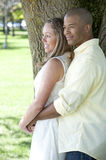 Happy Interracial Couple Stock Photo