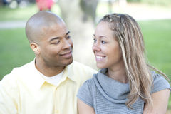 Happy Interracial Couple Royalty Free Stock Photography