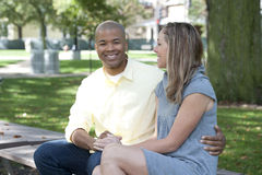 Happy Interracial Couple Stock Image