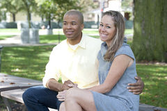 Happy Interracial Couple Royalty Free Stock Photo