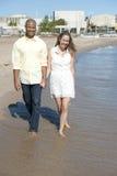 Happy Interracial Couple Royalty Free Stock Photography